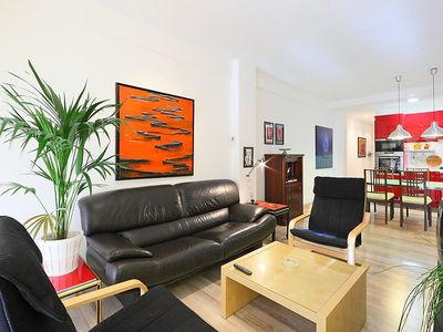 Photo for Apartment in Barcelona with Internet, Air conditioning, Lift, Terrace (88931)