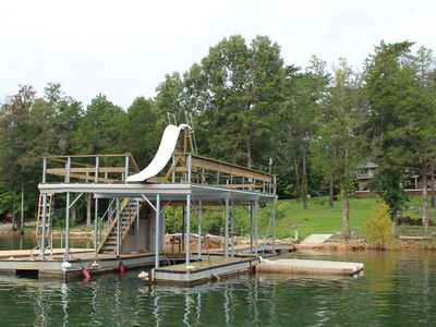 Photo for Beautiful, modern home on gentle slope, private hot tub, double decker dock