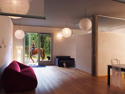 Photo for Graceful, comfortable and bright open space on the ground floor. Dolomites's Sound