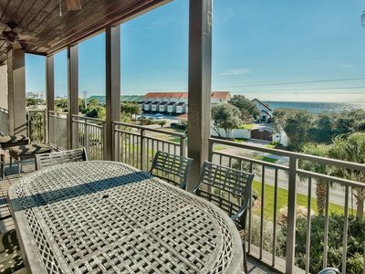 Photo for Third floor condo with Gulf views, rooftop deck with community pool and hot tub, short walk to beach: Open Air at Waterhouse