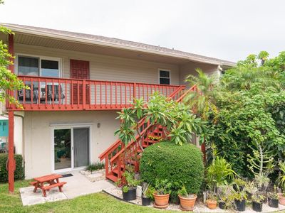 Photo for Peaceful Anna Maria retreat two bedroom, two bath Duplex with poolside den