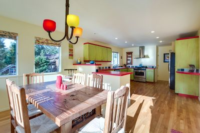 Kitchen and dining made for entertaining.