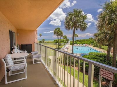 Photo for Charming Condo with Ocean View and Large Balcony facing the Beach! with Wii.