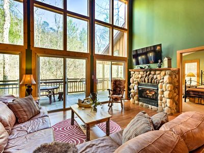 Photo for Gatlinburg Cabin w/ Hot Tub Right on the River!