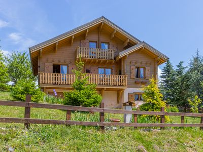 Photo for Beautiful wooden chalet - quiet