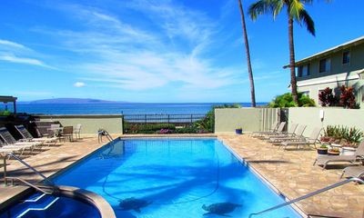 Shores of Maui private pool  & hot tub for guests of complex.