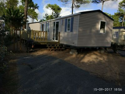 Photo for Mobile Home, 3 rooms any comfort, camp-site 4 stars, Saint Jean de Monts.
