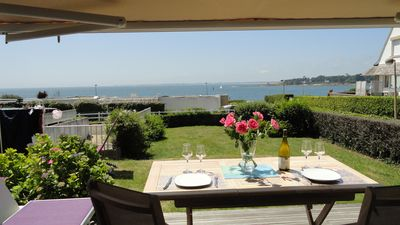 Photo for BENODET magnificent T2, free June 8 to 15, sea at 50m, superb view on the ocean, WIFI