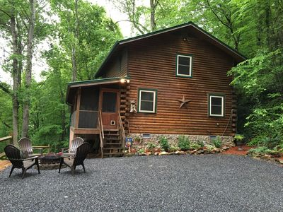 Photo for HAPPY FALL Y'ALL! PRIVATE SECLUDED Fire pit, WiFi, Direct TV, new updates!