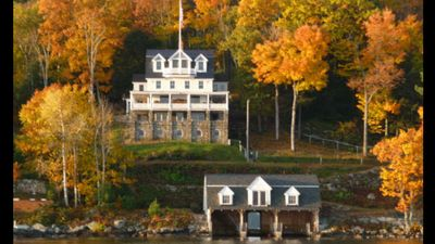 Lake Winni's Finest Waterfront Restored Mansion w/Boathouse and Private Beach