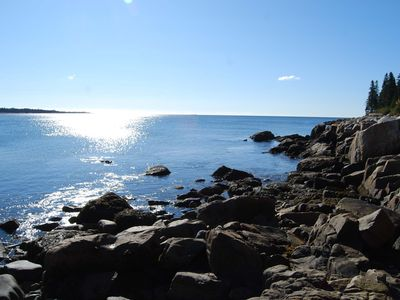 Photo for Oceanfront Home w/crashing surf in Schoodic/Acadia