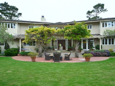 Photo for Luxurious Large Ocean View Pebble Beach Estate next to Lodge and Golf