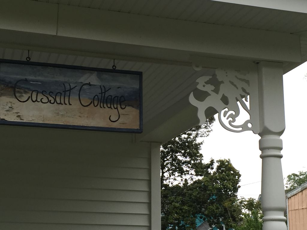 Cassatt Row Cottages pictured in Cape Charles:  A Railroad Town