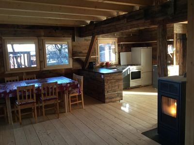 Photo for Chalet / mountain barn in mountain hamlet. Free shuttle at the foot.