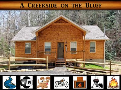 Photo for A Creekside on the Bluff - on creek / pet friendly