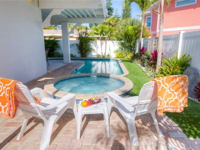 Just 2 Blocks from the Gulf Beaches - Private Heated Pool & Spa!
