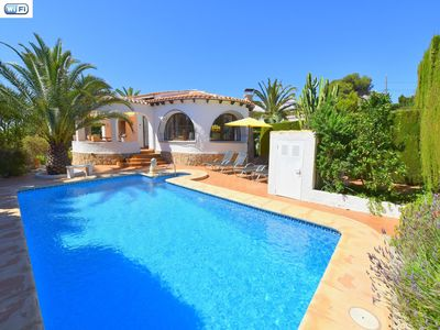 Photo for Holidayhome in Javea 4p 8x4 pool Arenal beach at 7km