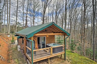 Enjoy a secluded mountain getaway at this Bryson city vacation rental cabin.