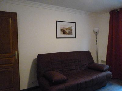Photo for Surface area : about 30 m². 1st floor. Orientation : West. Living room with sofa bed