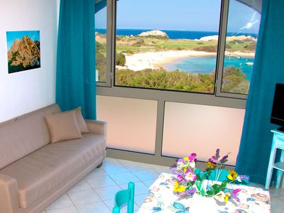 Photo for E - SEA VIEW / SEA VIEW apartment a few meters from the beach
