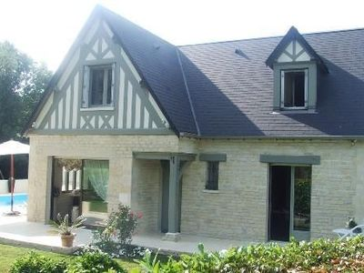 Photo for Near Deauville, character house rental with private heated pool