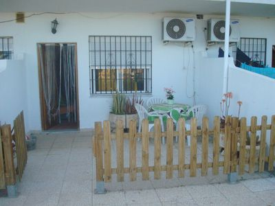 Photo for 3 bedroom apartment in ground floor with terrace, A / C and pool Nº 28A