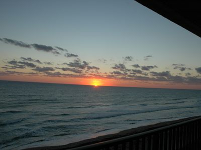Photo for top floor penthouse corner unit wrap around balcony, fantastic view, beach front