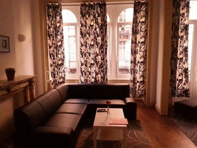 Photo for Spacious Antoine IV apartment in Brussels Centre with WiFi, balcony & lift.