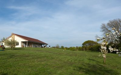 Photo for Luxury self catering level entry bungalow in a meadow, near coast and country