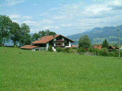 Photo for Vacation apartment in a peaceful location with an unobstructed view of the alps