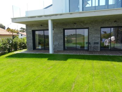 Photo for Exeptional location sea view for this apartment with private garden