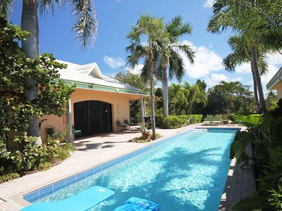 Photo for Spacious & inviting villa with private pool, a/c, & tennis court!