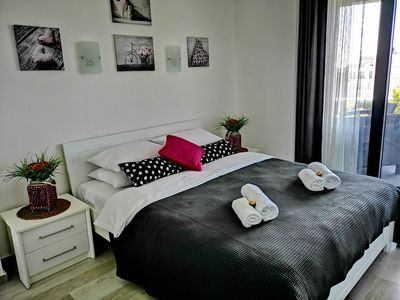 Photo for Rose One bedroom Apartment, City centre near old town Budva, sea view