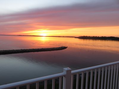 The sunsets at the Indian River Inlet are the best and with 5 balconies.....wow!