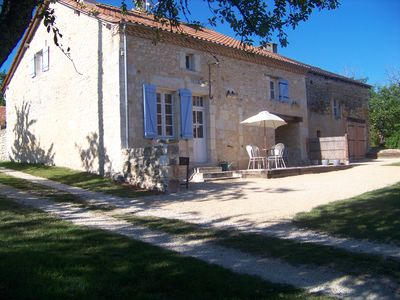 Photo for Charming  stone barn  private heated pool in the heart of Dordogne Perigord