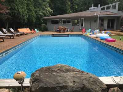 Photo for Sag Harbor Tennis and Pool on 2 private acres