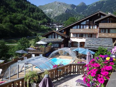 Photo for Neat apartment in a large chalet 1 km. from a nice center