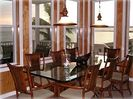 Abaco Palms' dining table seats 8 and offers beautiful views of the ocean.