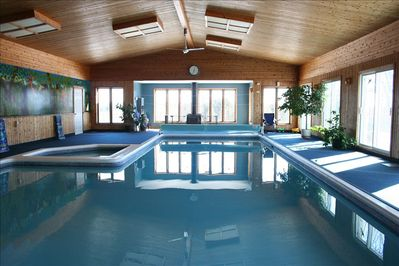 40 Ft Indoor Pool and 10 Person Hot Tub