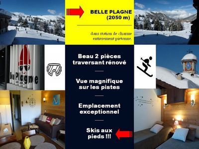 Photo for BEAUTIFUL PLAGNE, Nice 2 rooms renovated, ski in / out / * PACK ESSENTIAL OFFERED !!!