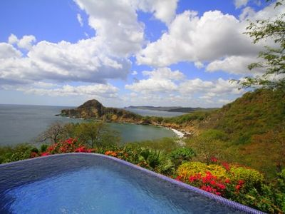 "View of the Pacific and ""Giant's Foot"" from your infinity pool"