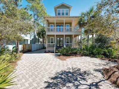 Photo for Beautiful Beach House in Seagrove Beach ~  Private Pool ~ Wrap-around Balcony!