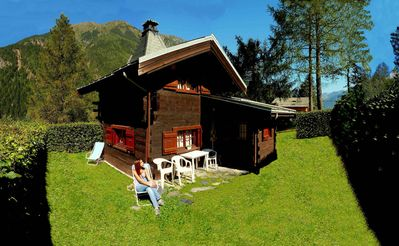 Photo for Small Chalet (Typically Montagnard mazot) independent with large garden