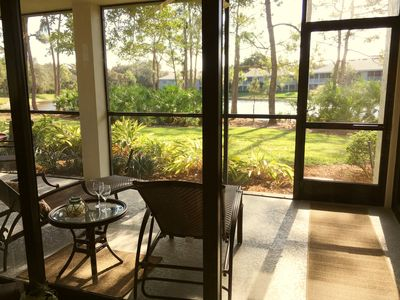Photo for Large Updated Corner Unit. Lake Views, Private Beach Access, Pool, Spa & Bikes