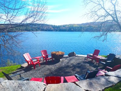 Lake view from upper lounge / fire pit area