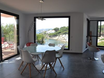 Photo for SANARY apartment for4-6 people-Beach on foot-panoramic sea view