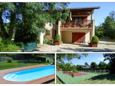 Photo for Spacious furnished villa with private pool and tennis