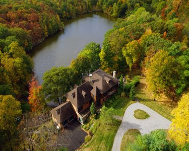 Photo for Cold Spring, NY ~ Elegant Lakeside Lodge Retreat on 5 Acres on Private Lake.