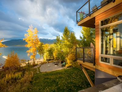 Photo for Luxury Lake Condo right on City Beach in Whitefish!! Sleeps up to 10!!