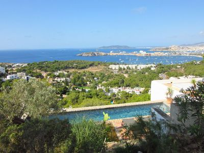 Photo for Stunning view over the bay of Talamanca and Ibiza city